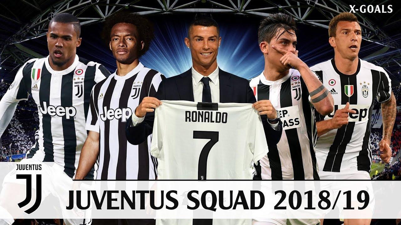 Juventus Squad 2018 19 All Players C Ronaldo Youtube