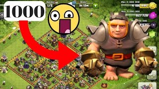 1000 Max Giants Raid The Strongest Attack Ever Happened In clash of clans History