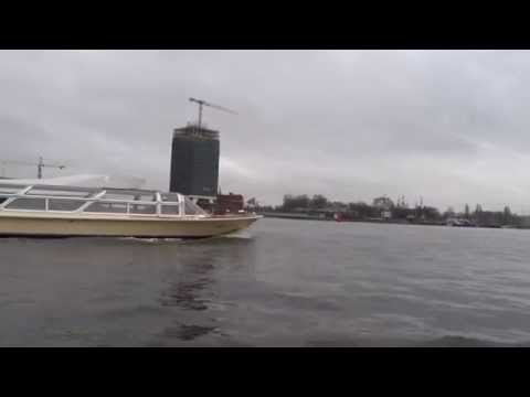Amsterdam City from sea canals...