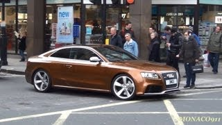 Brown Audi RS5 & White R8 Spyder in London