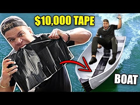 THIS WATERPROOF TAPE IS UNRIPPABLE (IMPOSSIBLE FLEX TAPE EXPERIMENT) STRONGEST TAPE EVER MADE