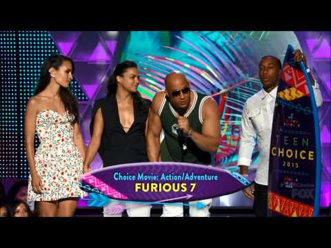 Furious7 & PaulWalker win at 2015 TCA's - VinDiesel, Michell