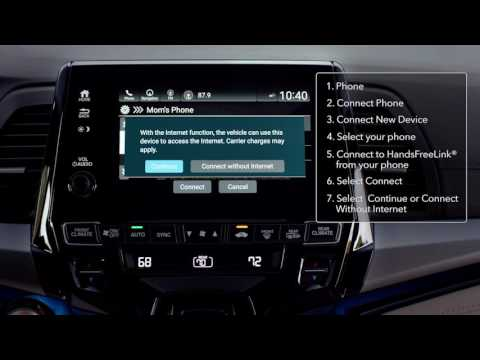 2018 Honda Odyssey: How to Pair Bluetooth® Enabled Phones ...