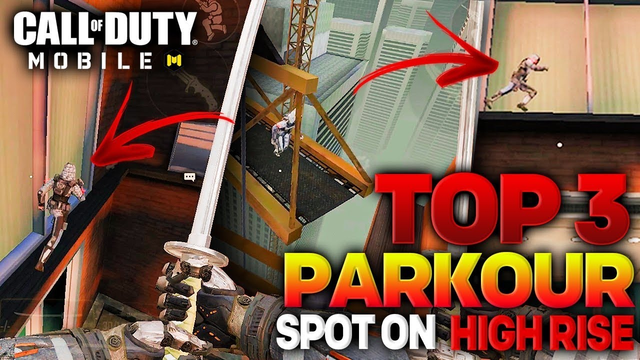 TOP 3 PARKOUR SPOTS IN *HIGHRISE* YOU SHOULD KNOW AND USE! (movement guide) | Call of Duty Mobile