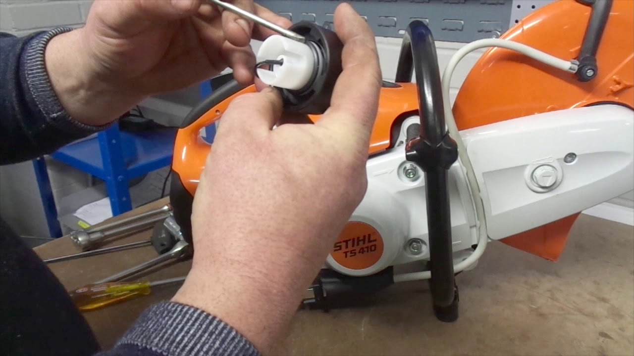 stihl fuel filter how to change a fuel filter on a stihl ts410 disc cutter l s  how to change a fuel filter on a stihl