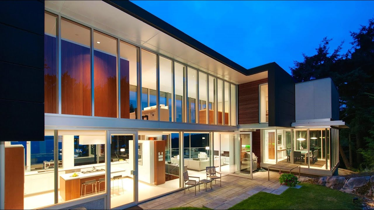 stunning elegant modern contemporary luxury home spectacular ocean views west vancouver canada youtube