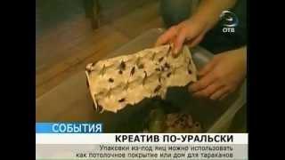 Новое применение яичным коробкам нашли уральцы