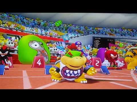 Mario And Sonic At The London 2012 Olympic Games 110m Hurdles Bowser Jr