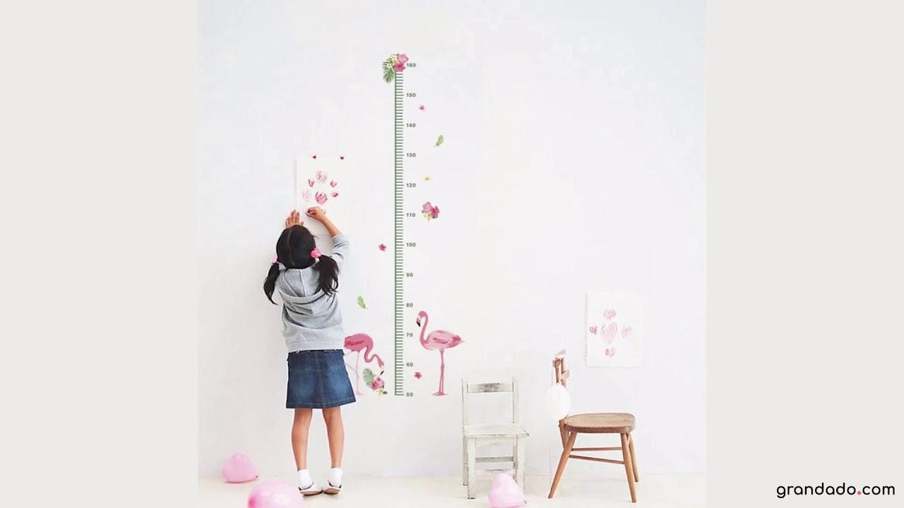 Muurstickers Slaapkamer Kind : D cartoon dieren flamingo hoogte meet muursticker kinderen kamers
