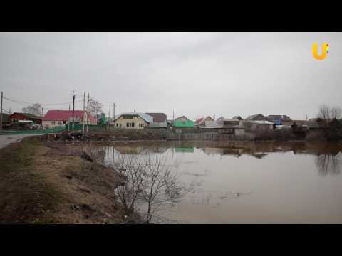 Новости. Река Белая вблизи г. Салавата вышла из берегов.