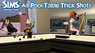 The Sims 3 Showtime All Pool Table Trick Shots