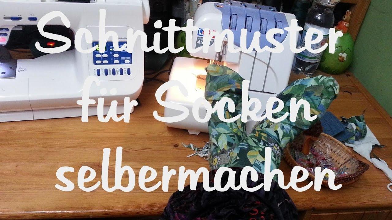 Teil 1: Schnittmuster für Socken ganz einfach selber erstellen und ...