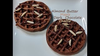 Almond Butter, Maple, Dark Chocolate Chaffle