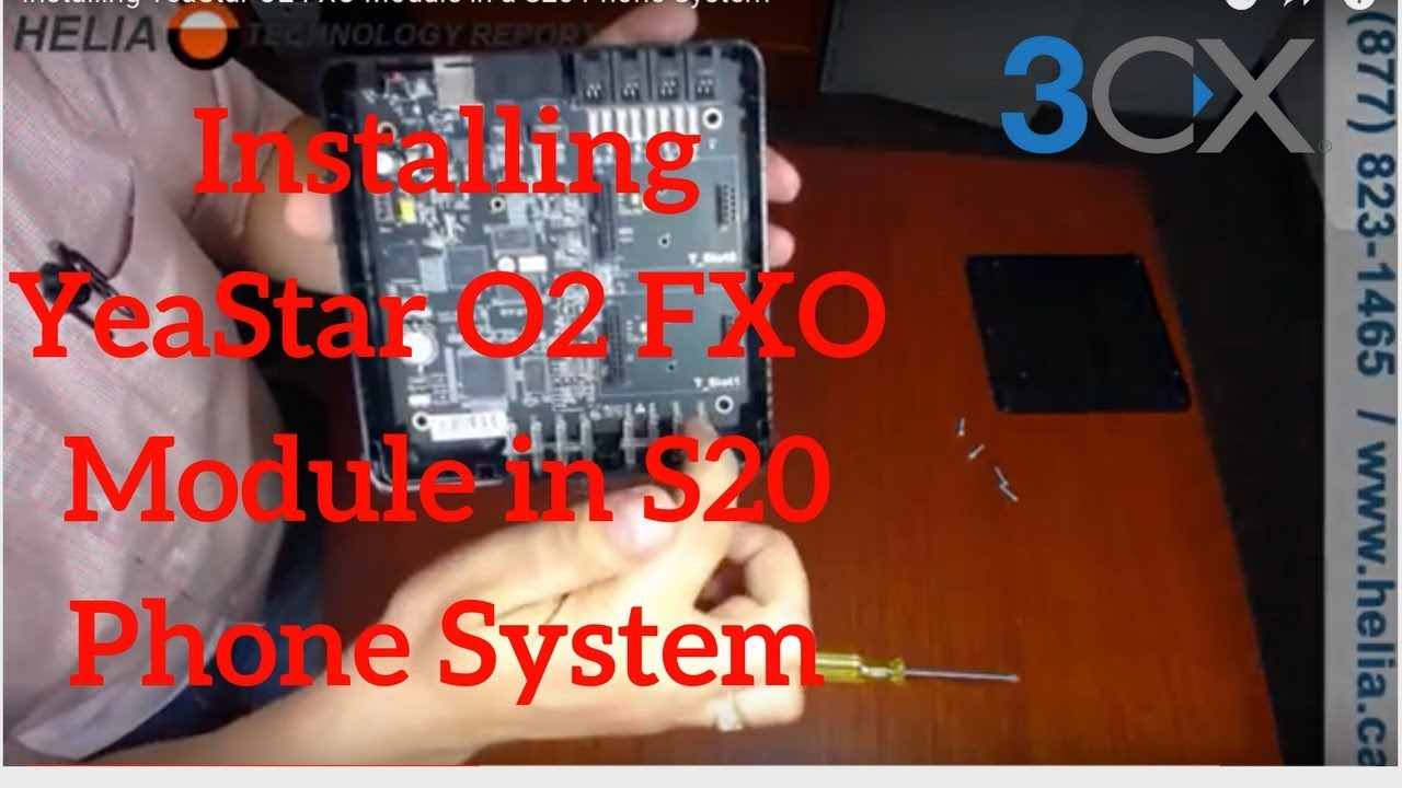 Installing YeaStar O2 FXO Module in a S20 Phone System