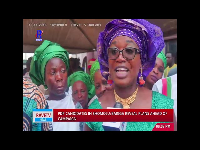 PDP Candidates In Shomolu/Bariga Reveal Plans Ahead of Campaign