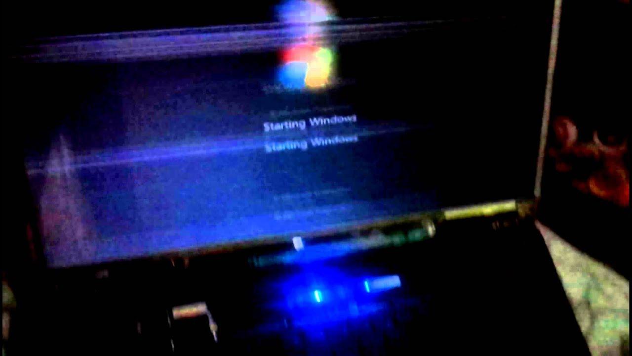 Laptop moving horizontal lines problem