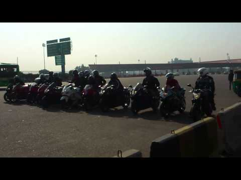 Super Bikes at NH8 Toll Plaza