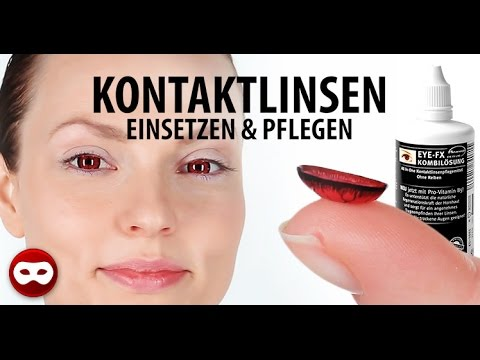 Online-Shop bester Ort für guter Verkauf Kontaktlinsen einsetzen & rausnehmen – inklusive Sclera