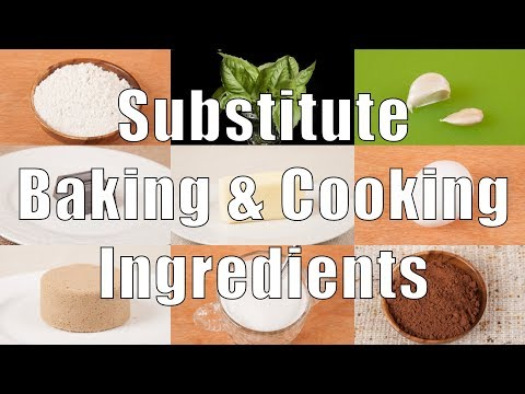 Substitute Baking & Cooking Ingredients (Home Cooking 101) DiTuro Productions