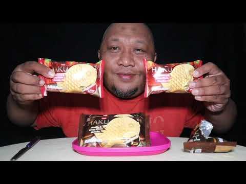 asmr-es-krim-bentuk-ikan,-haku-ice-cream-coklat-&-strawberry-from-glico-wing