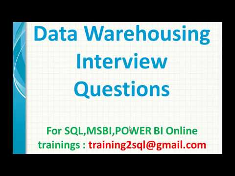 Top Data Warehouse Interview Questions And Answers