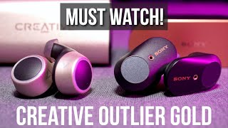 Listen Here! Creative Outlier Gold Voice Mic, Audio Latency Test Review (vs Sony WF-1000XM3)