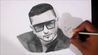 drawing Yo Yo Honey Singh Sketch