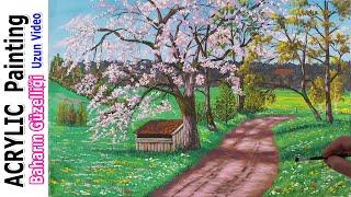 Adım Adım Resim Nasıl Yapılır çizilir | Baharın Güzelliği / Step By Step Painting / Beauty Of Spring