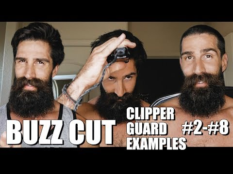 DIY BUZZ CUT (EXAMPLES OF CLIPPER GUARDS #2-#8)