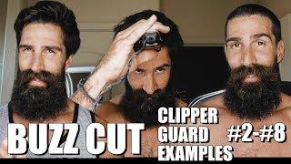 DIY BUZZ CUT (EXAMPLES OF CLIPPER GUARDS #2-#8)