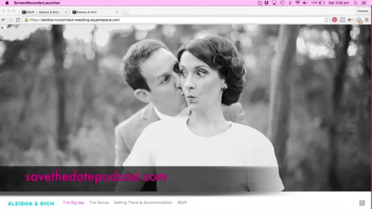 Wedding Websites with Save The Date Wedding Podcast Squarespace – Wedding Save the Date Websites