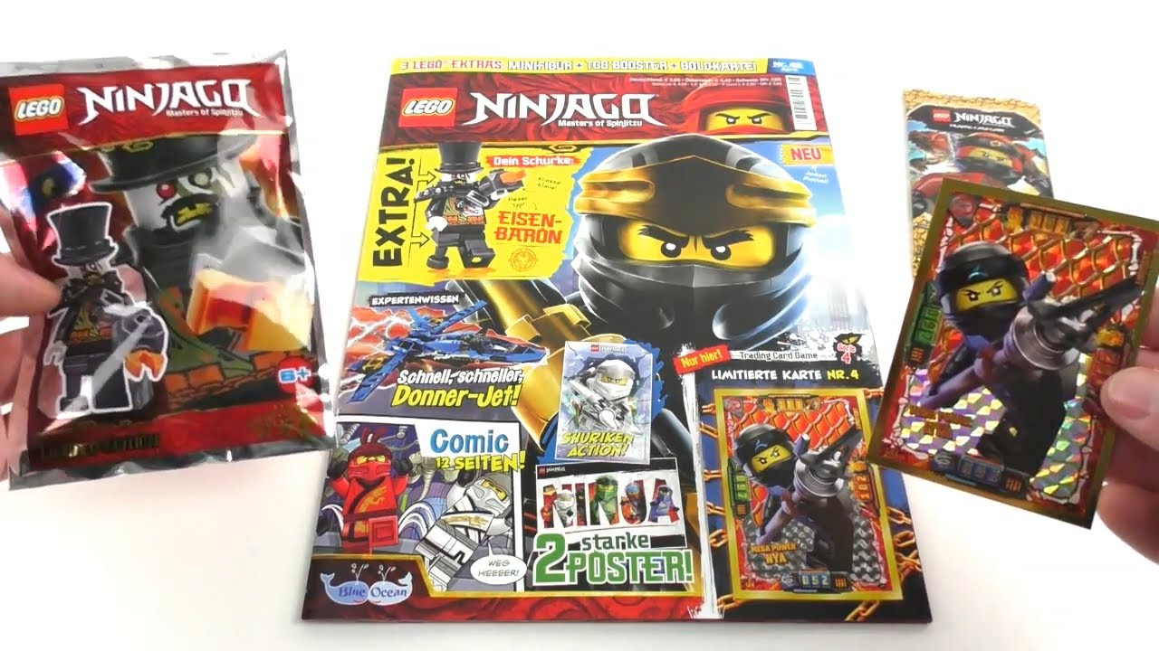 lego ninjago magazin nr 48 april 2019 review youtube. Black Bedroom Furniture Sets. Home Design Ideas