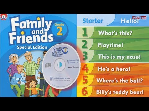 Unit Starer,1,2,3,4,5,6   Family And Friends 2  Special Edition  Full Audio