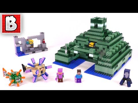 LEGO Minecraft The Ocean Monument Set 21136 | Unbox Build Time Lapse Review