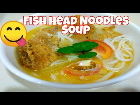 Fish Head Noodles Soup Chinese Style😋😋