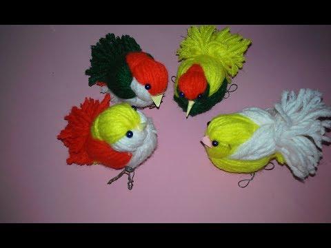 DIY Woolen Birds Wall Hanging for Home Decoration|Woollen Bird making|Jute Craft Idea