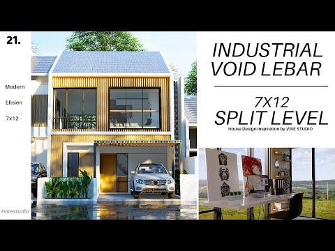 rumah-split-level-industrial-7x12-meter-dengan-void-yang-besar