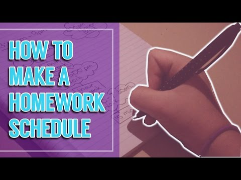 How To Make A Homework Schedule!