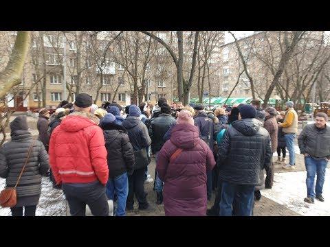 ⚡️Народный сход против сноса домов на ул. Балтийская в Москве / LIVE 01.03.20