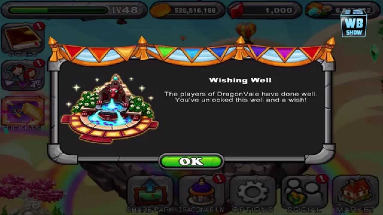 DragonVale Wishing Well Free Dragon YouTube