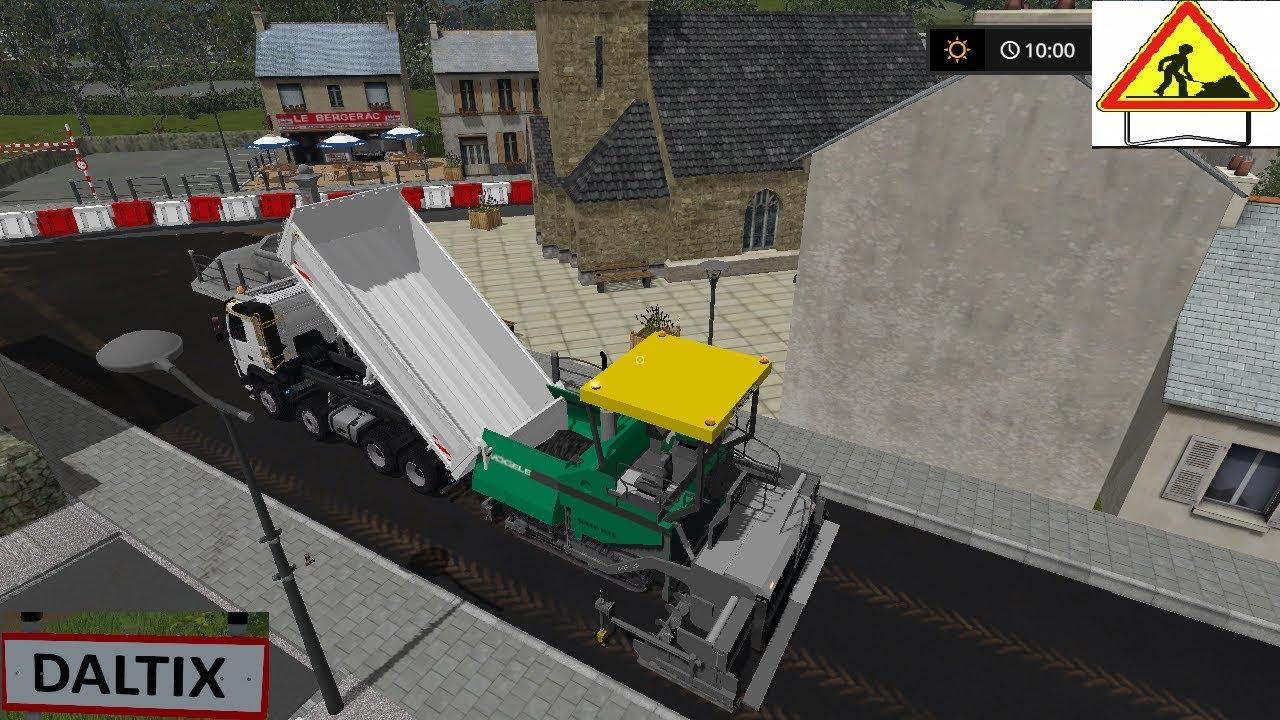 Farming simulator 17 map daltix v2 travaux publics for Pack travaux
