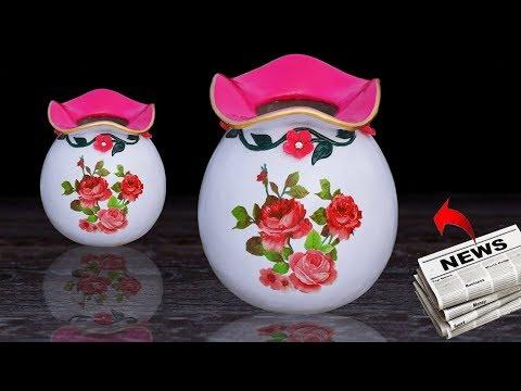 Stylish Paper flower vase // Awesome Paper flower vase at home