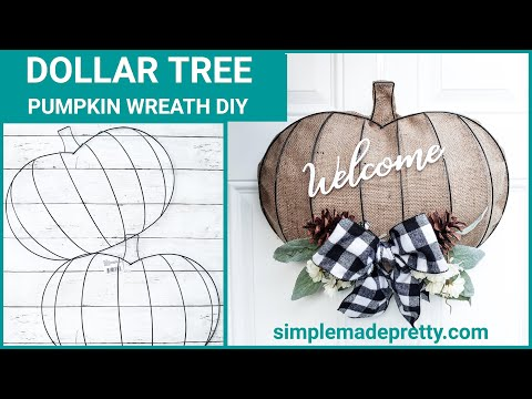 Dollar Tree DIY Pumpkin Wreath Form - Pumpkin Wreath, Dollar Tree Pumpkin DIY