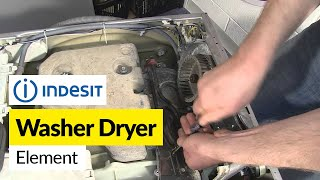 how to replace a heater element on an indesit washer dryer
