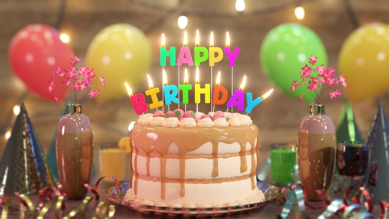 Happy Birthday Song | Happy Birthday To You | Beautiful video with birthday cake and other scenes HD - YouTube
