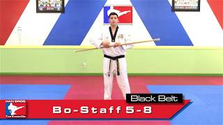 Han Bros TKD Black Belt Bo Staff 5-8