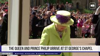 The Queen and Prince Philip arrive at St. George's Chapel