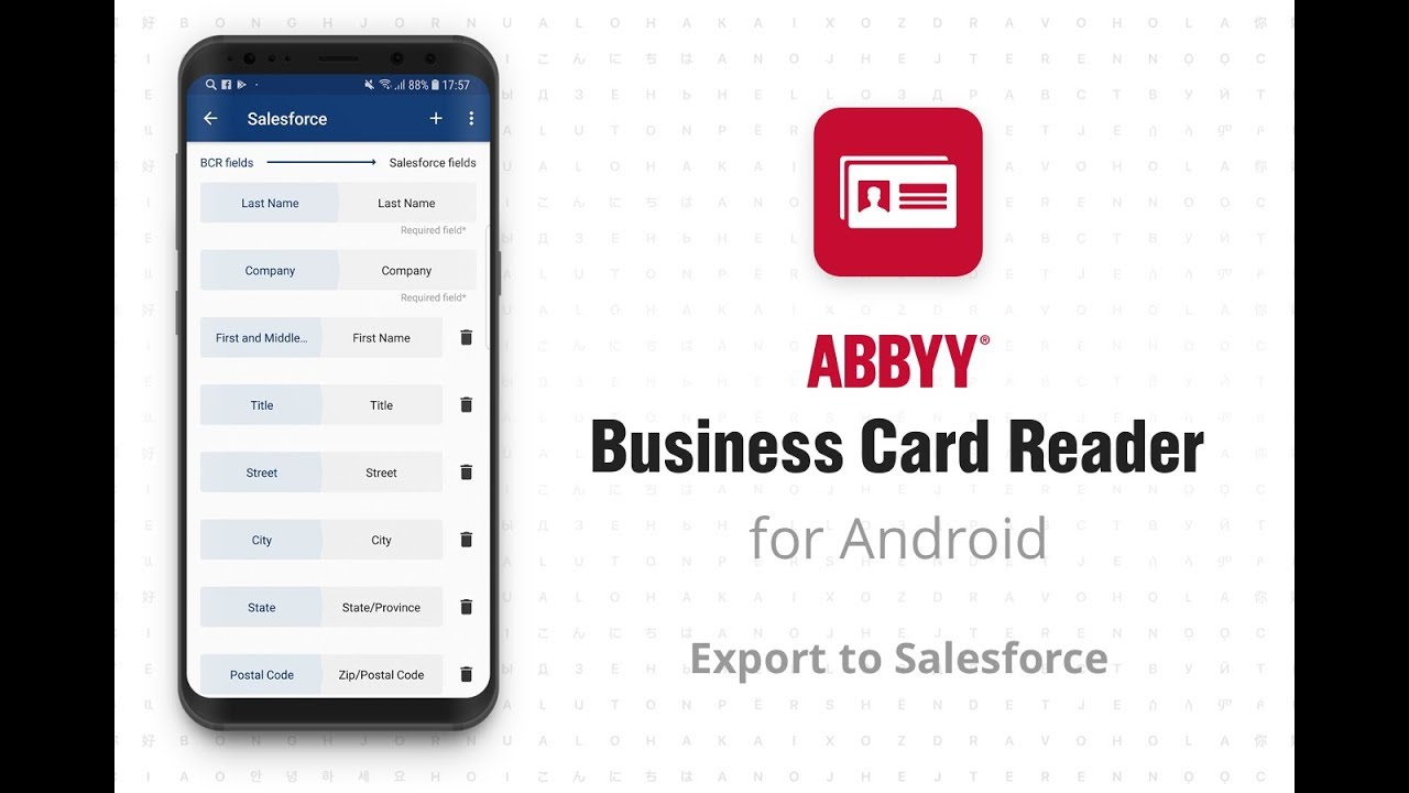 Business Card Reader Android With Salesforce Youtube