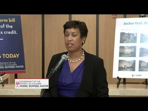 Mayor Bowser Highlights Impact of Tax Reform Bill on Affordable Housing, 11/15/17