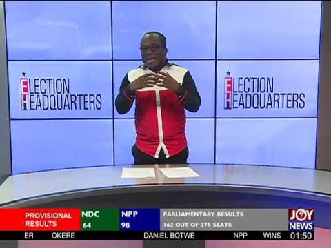 Nana Akufo Addo wins - Election HQ Projection on Joy News (9-12-16)
